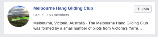 Facebook Group and Messenger - The Melbourne Hang Gliding Club